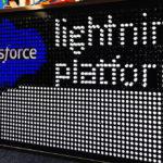 Salesforce branded Giant Lite Brite Dreamforce Rental San Francisco